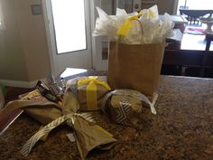 Prizes all wrapped