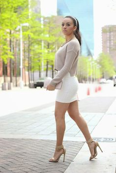 Maytedoll: Cropped Sweater and Mini Skirt.