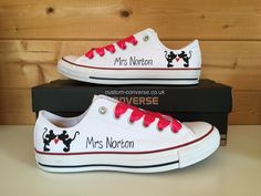 Mickey and Minnie Mouse Silhouette Wedding Converse 26068c08015