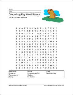 Groundhog Day printables #homeschool