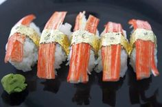 For those rich food fanatics who like to savor the most expensive foods and delicacies known to the man, next on the list is world's most expensive sushi made by Filipino chef Angelito Araneta Jr. What makes this plate of sushi consisting of five pieces the most expensive is not the fish, but the garnishing in gold leaves and diamonds. The sushi is garnished with .20-carat African diamonds and wrapped with 24-karat gold leaves and is available in a restaurant in Manila for $2,750.