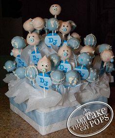 baby shower cake pop display by LetThemEatCakePops.com