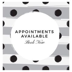 Appointments available graphics for social media
