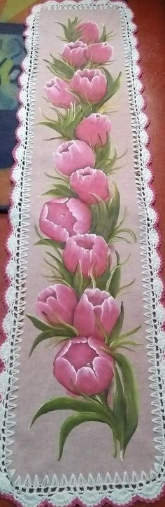 Saree Painting Designs, Fabric Paint Designs, Stencil Patterns, Painting Patterns, Chinese Painting Flowers, Paint Runner, Flower Art Drawing, Basic Painting, Crochet Doily Diagram