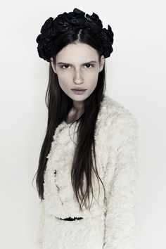 black floral crown