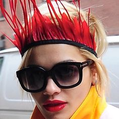 #InspiringLookoftheDay We made a big deal of sending perfect red #lipsticks 2 pair w/great shades in Jan's GlamCase.  Still sweet!  @ritaora @voguemagazine