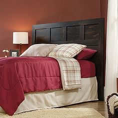 """Sauder Dakota Pass Full / Queen Panel Headboard, Char Pine: Features: Finish: Char Pine Specifications: Overall Product Dimensions: """" H x """" W x """" D Overall Product Weight: 71 lbs Gray Upholstered Headboard, Queen Size Headboard, Full Headboard, Wood Headboard, Panel Headboard, Queen Size Bedding, Headboards, Bedding Sets, Atlantic Furniture"""