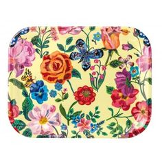 "SERVING TRAY YELLOW ""FLEURS"""