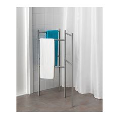 GRUNDTAL Towel stand - - - IKEA - IDEA! I'm going to make this out of PVC pipe for towels by the pool. YAY!!