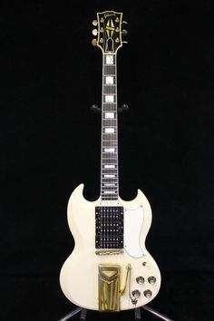 Mary Ford | '61 Gibson Les Paul (SG).    This guitar was pawned at Pawn Stars in Las Vegas.  Rick paid $90,000. Sg Guitar, Music Guitar, Guitar Amp, Cool Guitar, Acoustic Guitar, Gibson Sg, Gibson Les Paul, Gretsch, Epiphone