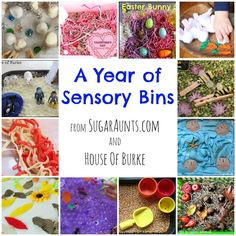 A Year Of Sensory Bins - House of Burke and Sugar Aunts