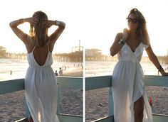 CALIFORNIA DREAMIN'  Travel blogger street style with white dress and sunglasses by Monica Sors