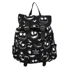 The Nightmare Before Christmas Jack Slouch Backpack Hot Topic ❤ liked on Polyvore featuring bags, backpacks, slouch backpack, slouchy bag, christmas bags, slouchy backpack and backpacks bags