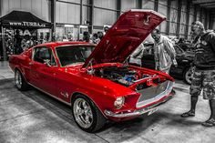 Red Ford Mustang Shelby GT 500 1968 by Tomasbdrk
