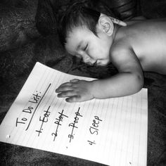 Dominic's To-do list.   Baby photo idea.