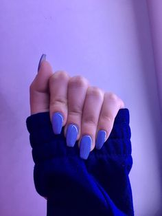 Convenience Store, Nails, Blue Nails, Convinience Store, Finger Nails, Ongles, Nail, Nail Manicure