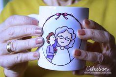 Taza para una abuela muy especial. Feliz día de los abuelos! #diadelosabuelos www.celestianshop.com