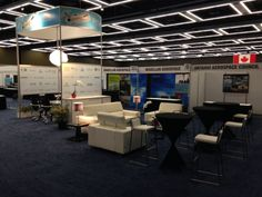 Government of Ontario booth at Aerospace & Defense Suppliers Summit in Seattle #eventprofs #exhibitdesign