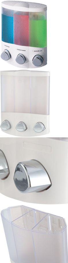 Soap Dispensers-Mounted 121847: Better Living Products Trio Corner Dispenser In White Shower Soap Dispenser -> BUY IT NOW ONLY: $33.61 on eBay!