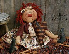 PATTERN Primitive Americana Raggedy Ann Doll