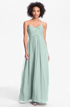 Donna Morgan 'Laura' Ruched Sweetheart Silk Chiffon Gown available at #Nordstrom