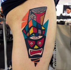 #tattoofriday - Mike Boyd (Londres) e suas tattoos cubistas, futurísticas e coloridíssimas;