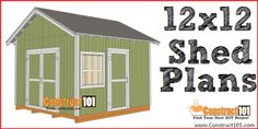 Free shed plans include gable, gambrel, lean to, small and big sheds. Free how to build a shed guide. Shed Plans 12x16, Lean To Shed Plans, Shed Building Plans, Coop Plans, Diy Shed Plans, Free Shed Plans 10x12, Wood Bench Plans, Woodworking Bench Plans, 2x4 Bench