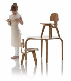 Kids Replica Of The Classic LCW Table And Chair Set (by Little Nest) Nest