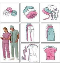 Image result for Bouffant Surgical Scrub Hat Sewing Pattern Free Instructions #BouffantHairBeehive