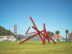 Eight monumentally scaled sculptures by Mark di Suvero rise at historic Crissy Field this May for a free yearlong exhibition