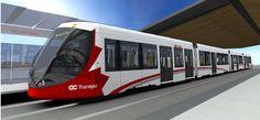 Final selected livery of Ottawa's new light rail vehicle