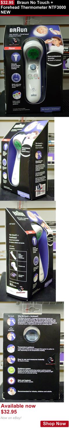 Baby Thermometers: Braun No Touch + Forehead Thermometer Ntf3000 New BUY IT NOW ONLY: $32.95