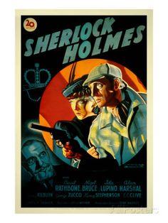 The Adventures of Sherlock Holmes, George Zucco, Ida Lupino, Basil Rathbone, 1939 Poster bij AllPosters.nl