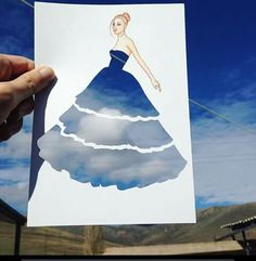 """"""" Visual Criação """" * #Arte ☆ """" Com Recorte de Papel Vazado """" Mostrando Cotidiano... #Céu ao fundo... ☆#Moda #Design #Faswion☆ ☆"""