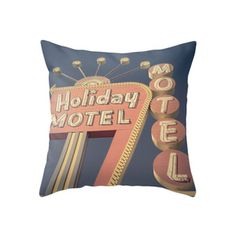 Motel Welcome Throw Pillow