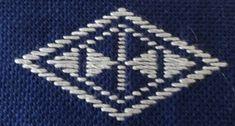Hishizashi Pattern (Japan) - Kogin embroidery technique.