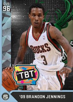 09 Brandon Jennings (96) MyTEAM Diamond Card Brandon Jennings e07e93212