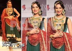 There wasn't an inch of Sonal Chauhan that didn't glitter at this do.
