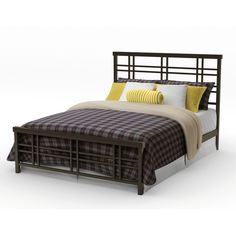 Amisco Heritage Queen Size 60-inch Metal Bed | Overstock.com Shopping - The Best Deals on Beds