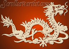 Scroll Saw Patterns :: Mythical :: Dragons :: Chinese Dragon -