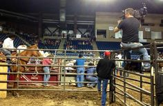 KFDM photographer Drue Barrilleaux at the special rodeo, photo by Leslie Rangel.