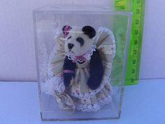 Miniature Panda Bear by Little Gem Teddy Bears - Collectible Artist Bear , Artist Mini Dollhouse Teddy Bear , Hand Made Toy Panda Bear by ShersBears on Etsy