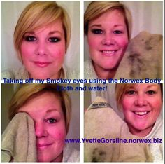 I LOVE NORWEX! Use only water and the #Norwex body cloth to remove all your makeup quickly and easily! www.yvettegorsline.norwex.biz
