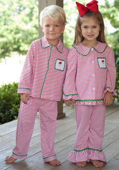 "Adorable knit striped boy's and girls's Striped Santa Loungewear by Three Sister's that will be just perfect for setting out the Christmas cookies for Santa this year! A must have for your little one so be sure to get them befor ethey disappear!     <strong><span style=""color: #ff99cc;"">Item is in stock and will ship in 7-10 days! </span></strong>"