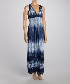 Look what I found on #zulily! Blue Tropics Crocheted-Back Maxi Dress by India Batik #zulilyfinds