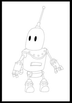 1 Día 1 Dibujo: Little Robot - DIgital Sketch (30/12/17)