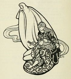 Drawings from an edition of Alfred Tennyson's Poems illustrated by British artist Eleanor Fortescue-Brickdale Was published by George Bell & Sons in Art Nouveau Illustration, Illustration Styles, Illustrations, Tennyson Poems, The Lady Of Shalott, Most Popular Artists, Victorian Life, Book Posters, Fauvism