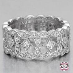 Fay Cullen Art Deco engagement wedding band ring.