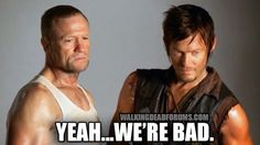 Daryl Dixon and Merle.