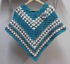 Crochet PATTERN Poncho Flower Crochet pattern multiple | Etsy